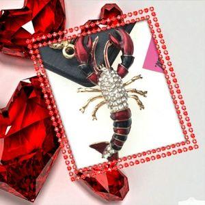 Betsey Johnson Crawfish Necklace